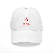 Keep calm you live in Somerset Wisconsin Baseball Cap