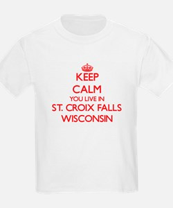 Keep calm you live in St. Croix Falls Wisc T-Shirt