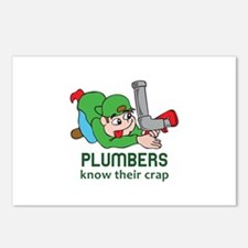 PLUMBERS KNOW THEIR CRAP Postcards (Package of 8)