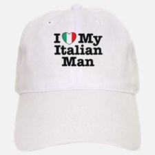 I Love My Italian Man Baseball Baseball Cap