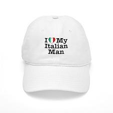I Love My Italian Man Baseball Cap