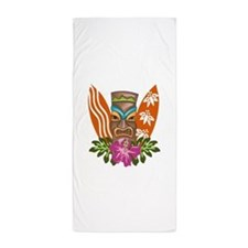 TIKI AND SURFBOARDS Beach Towel