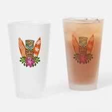 TIKI AND SURFBOARDS Drinking Glass