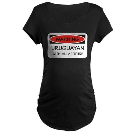 Attitude Uruguayan Maternity Dark T-Shirt