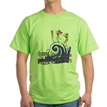 Tsunami Wave Walkers Green T-Shirt