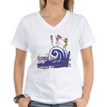 Tsunami Wave Walkers Women's V-Neck T-Shirt