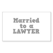 Married to a Lawyer Rectangle Decal