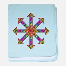 Chaos Symbol Psychedelic baby blanket
