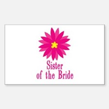 Bride's Sister Rectangle Decal