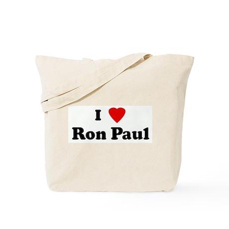 I Love Ron Paul Tote Bag