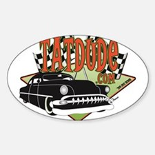 Tatdude Logo Oval Decal
