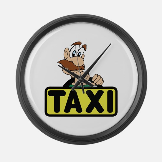 TAXI DRIVER Large Wall Clock
