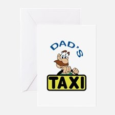 DADS TAXI Greeting Cards