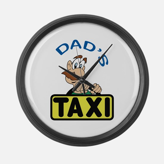 DADS TAXI Large Wall Clock