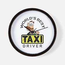 BEST TAXI DRIVER Wall Clock