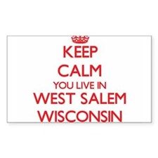 Keep calm you live in West Salem Wisconsin Decal