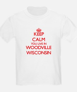 Keep calm you live in Woodville Wisconsin T-Shirt