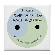 """Well Adjusted"" Tile Coaster"