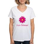 Junior Bridesmaid Women's V-Neck T-Shirt