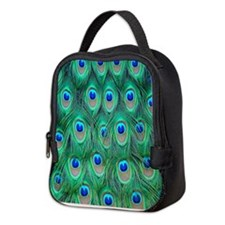 Peacock Feathers Neoprene Lunch Bag