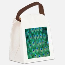 Peacock Feathers Canvas Lunch Bag