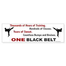 ONE Black Belt 1 Bumper Bumper Sticker