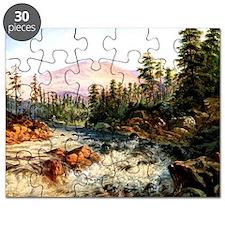 Mountain Cascade near Cisco, California Puzzle