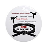 Karate Round Ornaments