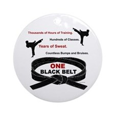 ONE Black Belt 1 Ornament (Round)
