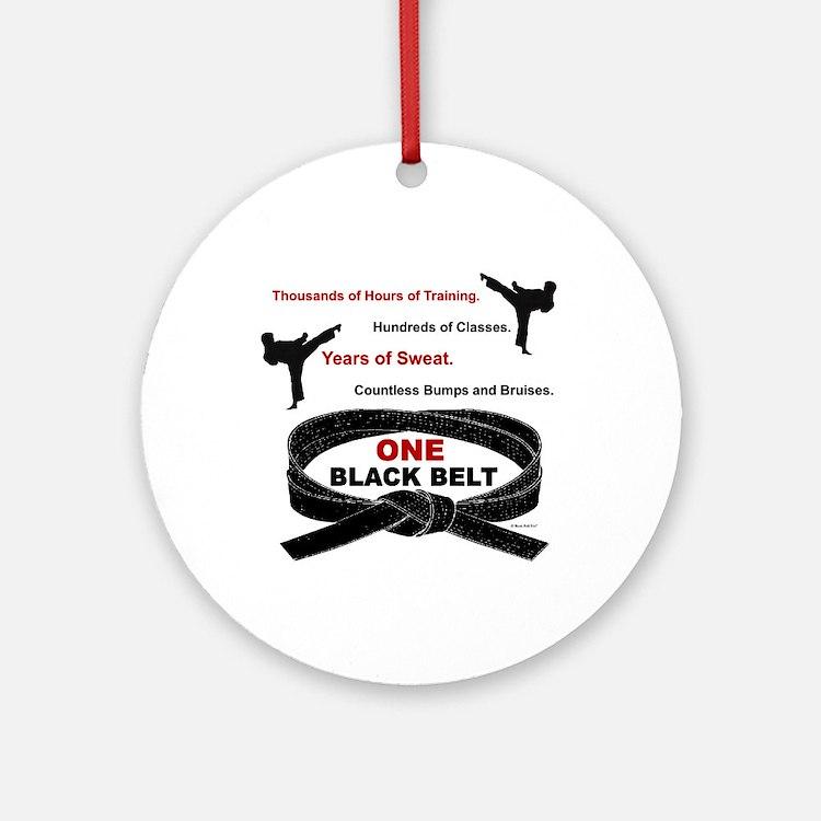 ONE Black Belt 1 Ornament (Round)