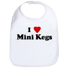 I Love Mini Kegs Bib