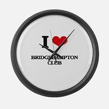 I Love Bridgehampton Club Large Wall Clock