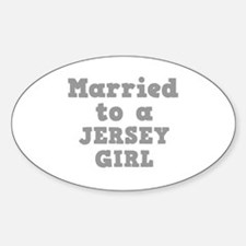 Married to a Jersey Girl Oval Decal