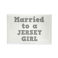 Married to a Jersey Girl Rectangle Magnet