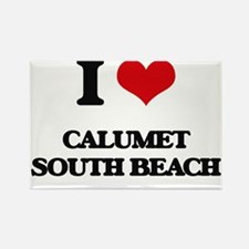 I Love Calumet South Beach Magnets