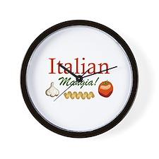 ITALIAN MANGIA Wall Clock