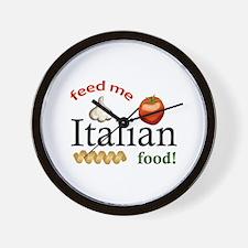 FEED ME ITALIAN Wall Clock