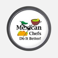 MEXICAN CHEFS Wall Clock