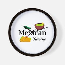 MEXICAN CUISINE Wall Clock