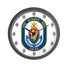 USS Bunker Hill CG-52 Wall Clock