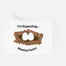 Expect Identical Twins Greeting Cards (Package of
