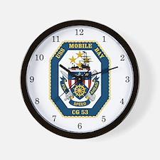 USS Mobile Bay CG-53 Wall Clock