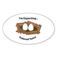 Expect Fraternal Twins Oval Decal