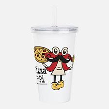 Pizza Pi Acrylic Double-wall Tumbler