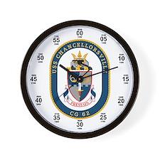 USS Chancellorsville CG-62 Wall Clock