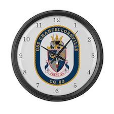 USS Chancellorsville CG-62 Large Wall Clock