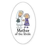 Cartoon Bride's Mother Oval Sticker