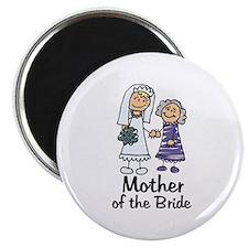 Cartoon Bride's Mother Magnet