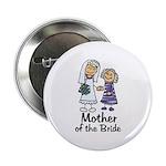 Cartoon Bride's Mother Button