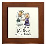 Cartoon Bride's Mother Framed Tile